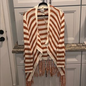 Burnt orange cardigan size small